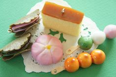 6 pcs Wagashi Japanese Sweets Charm Set AZ283 by misssapporo
