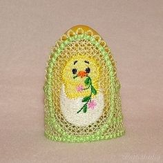 Easter Egg Holders 1, In The Hoop FSL - 5x7 | FSL - Freestanding Lace | Machine Embroidery Designs | SWAKembroidery.com Patti Studio