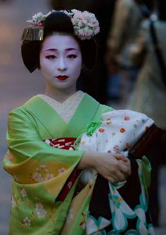 Maiko (became geiko; now retired) Mameyuri of Gion Kobu