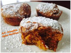 Gluten Free Pumpkin Spice Muffins  Ingredients: 1 1/3 cup G.F. flour 1 teaspoons pumpkin pie spice (combo of cinnamon,nutmeg, clove) 1/4 teaspoon baking powder 1 teaspoon baking soda 3/4 teaspoon salt 1 cup honey 2 eggs (I used 2 tablespoon freshly ground flax w/ 6-7 tablespoon hot water) 1/2 cup coconut oil 1/4 cup cold water 1 1/4 cup pumpkin puree Instructions: Preheat oven to 325 1. Mix dry ingredients then add wet. 2. Grease or line muffin tins and fill 3/4 way 3. Bake for 40 minutes…