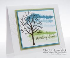 January Stamp-A-Stack #2: Winter Tree
