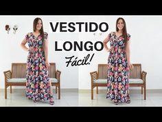 Diy Vestido Longo, R Panel, Panel Dress, Sewing Tutorials, Couture, Mom, Stuff To Buy, Dresses, Facebook