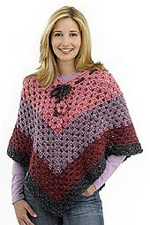 Ravelry: Groovy Granny Poncho pattern by Lion Brand Yarn;  When a person says poncho and we are from the 70's this is what comes to mind.