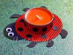 Spring Crafts for Kids - Lady Bug Tea Light Holder Spring Crafts For Kids, Art For Kids, Monkey Crafts, Ladybug Crafts, Craft Activities For Kids, Craft Ideas, Fun Ideas, Project Ideas, Inspiration For Kids