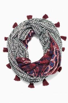 Reversible Infinity Scarf - Rich Burgundy by Stella & Dot