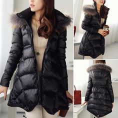 In the cold winter,how could you miss this coat? It will keep you warm and stylish. Featuring solid color style,with long sleeve,hooded and slim fit design. Long-style style,perfect show your slender figure. #warm clothes #trending #cardigan