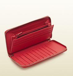 soho begonia pink leather zip around wallet