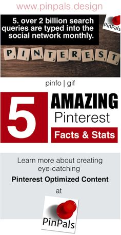 5 Amazing Pinterest Facts & Stats. We make Interactive Gifs optimized for Pinterest. Learn more here: http://www.pinpals.design/blog/files/introducing-pinterest-optimized-animated-gifs.html