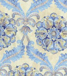 Waverly Upholstery Fabric-Over The Moon/Lapis