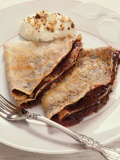 Chocolate Mousse Crepes  - on HGTV