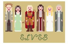 Lord+Of+The+Rings+Cross+Stitch+Pattern+++Elves+by+XStitchMyHeart,+£2.75