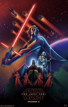 The Last Jedi by https://www.behance.net/kazoomori #starwars #thelastjedi