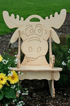 Darn Cute Moose Puzzle Rocking Chair Free by UniqueDesigns2013, $65.00