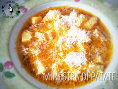 La minestra di patate è un piatto della tradizione. Me lo preparava sempre la mia mamma e io ne andavo matta. Provatelo anche voi in questa versione.