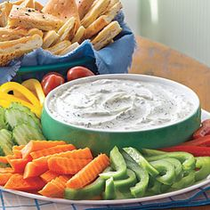 Creamy Dill Dip with Pita Chips | MyRecipes.com