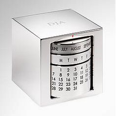 A practical and classy desk piece! Perpetual Calendar Corporate Gift- $40.00
