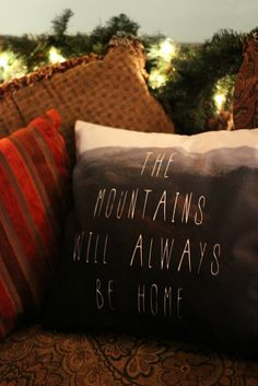 Mountain Home Pillow Cover // Sweet Reveries $45+