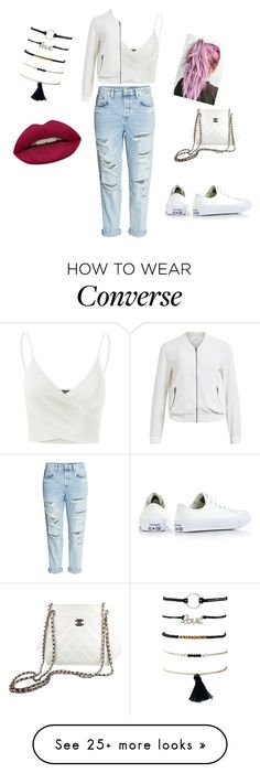 """""""Untitled #358"""" by abantescu23 on Polyvore featuring H&M, Doublju, Converse, Object Collectors Item, Chanel and Huda Beauty"""