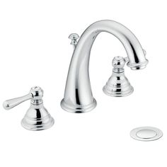 Shop Moen Kingsley Chrome 2-Handle Widespread WaterSense Bathroom Faucet at Lowes.com