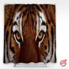 Tigers face eye cat Shower Curtain #decorative #bathroom #curtain #gift #present #favorite