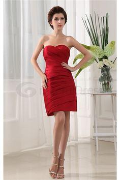 Red Short Satin Sweetheart Summer Bridesmaid Dress http://www.GracefulDress.com/Red-Short-Satin-Sweetheart-Summer-Bridesmaid-Dress-p19440.html