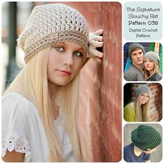 Perfect for men and women! Make this classic slouch hat with Lion's Pride Woolspun!