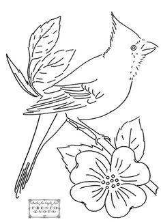 vintage birds embroidery patterns | Free Vintage Birds of a Feather Embroidery…