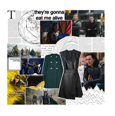 """""""W'ell drive our ships to new lands - Loki Laufeyson"""" by sassywinchester-67 ❤ liked on Polyvore featuring Chloé, Dion Lee, Broccoli, movie, marvel, Loki and thor"""