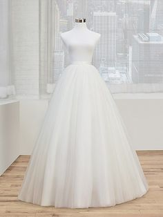 Simply Val Stefani | Spring 2017 | Style S2024 | This A-line tulle ball gown bridal skirt style S2024 provides a dreamy, romantic look that's simply perfect for any traditional wedding or grand celebration. This tulle ball gown matches perfectly with our Simply Val Stefani Style S2014 mini dress, or can be match with any of our other Simply Val Stefani separate tops.