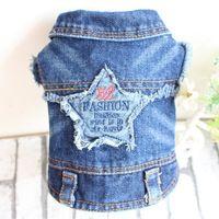Denim ropa para mascotas perro bordado jeans coat Chaleco con el patrón de estrella para toda la temporada https://app.alibaba.com/dynamiclink?touchId=60619441685