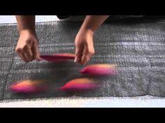 Making Nuno Felt: Laying Out Wool Roving for a Nuno Felt Shawl - YouTube
