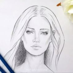 35 Cool And Creative Drawing Ideas For Teenagers Cool Art Drawings, Pencil Art Drawings, Realistic Drawings, Art Drawings Sketches, Drawing Faces, Girl Pencil Drawing, Drawing Portraits, Kpop Drawings, Drawing Ideas