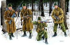 101st Airborne Division in Bastogne (Battle of the Bulge) by Ronald Volstad
