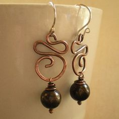 #OpenSky                  #Women                    #Hammered #Copper #Swirls #Brown #Pearl #Earrings   Hammered Copper Swirls & Brown Pearl Earrings                                 http://www.snaproduct.com/product.aspx?PID=5815877