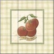 CA-Tomatoes - Tile Mural Tumbled Marble Tile, Marble Tiles, Decorative Tile Backsplash, Kitchen Backsplash, Tile Murals, Wall Tiles, Fruit Picture, Fruits Images, Tile Projects