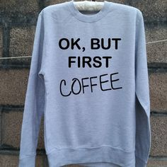 But First Coffee Caffeine Addict Monday Morning Person Funny Hoodie Pullover