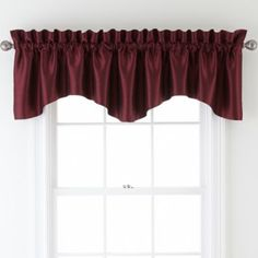 Sutton Place Antique Satin Rod-Pocket Valance  found at @JCPenney