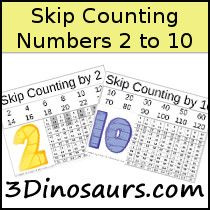 Skip Counting 2 to 10 - 3Dinosaurs.com