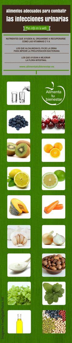Alimentos adecuados para las infecciones urinarias