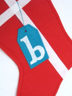Felt Christmas Stocking  Gift with Tag  Choose by stitcholicious, $18.00