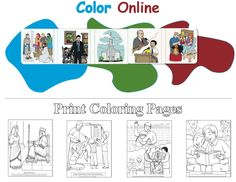 Lds Printable and Online Coloring Pages for Children @ Friend Magazine. Lds Coloring Pages, Online Coloring Pages, Latter Days, Latter Day Saints, Lds Org, Lds Mormon, Jesus Christ, Printables, Magazine