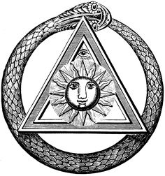 "Ouroboros image from the Freemasonry journal ""The Kneph"":   http://freemasonry.bcy.ca/kneph/kneph.html"