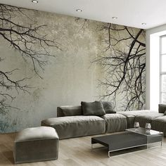 Cheap mural wallpaper Buy Quality photo wallpaper directly from China mural wallpaper Suppliers: Custom Photo Wallpaper Creative Abstract Home Decor Nordic Style Tree Branches Sky Papel De Parede Desktop Mural Wallpaper Tree Wallpaper Living Room, 3d Living Room, Living Room Murals, Wall Wallpaper, Photo Wallpaper, Custom Wallpaper, Wallpaper Designs For Walls, Office Wallpaper, Minimalist Living