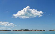 Cloud over the island. #cloud #island #Bahamas