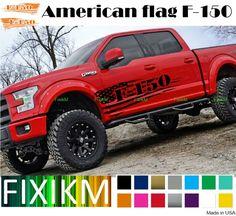 2015-2018 Ford F150 F-150 Side Emblem 2Pcs Set Overlay Decal Glossy Carbon Fiber