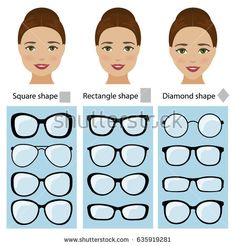 Spectacle frames for women face shapes. Spectacle frames shapes for different types of women face shapes. face types as square, diamond, rectangle. Frames For Round Faces, Glasses For Oval Faces, Glasses For Your Face Shape, Cute Glasses, Eyeglasses For Women Round Face, Sunglasses For Round Faces, Retro Sunglasses, Womens Glasses Frames, Types Of Glasses Frames