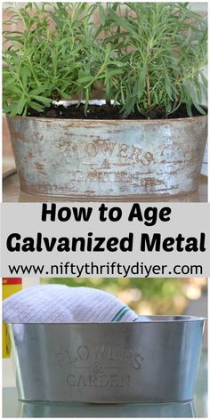 Diy Crafts : Illustration Description Quickly age galvanized metal with this tutorial. Weekend DIY Farmhouse Projects you can complete in a few hours. Crafting is just…Fun! -Read More – Pot Mason Diy, Mason Jar Crafts, Diy Home Decor Projects, Diy Projects To Try, Decor Ideas, Craft Ideas, Metal Projects, Metal Crafts, Decorating Ideas