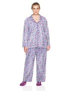 NEW Carole Hochman Women/'s 2 Piece Capri Pajama Set Blue Dots M 3X NWT