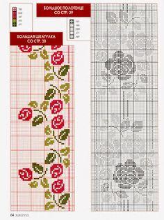 SANDRA CROCHE: Cross Stitch - Roses