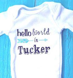 762cd332e00d $10.50 Hello world custom onesie® custom baby onesie take home Cute Baby  Gifts, New